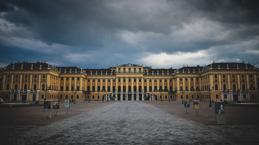 Golden eye Vienna Austria Castle Palace Schönbrunn Golden Dark Sky Blue Cloud - Sky Architecture City Travel Tourism Façade