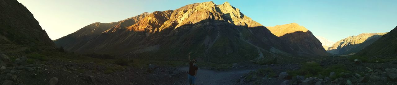 EyeEmNewHere Mountain Rock Formation Travel Destinations Rock - Object Nature Outdoors Mountain Range Sky Day Panoramic Rock Face Beauty In Nature Landscape Cliff Scenics No People Mountain Peak Steep Moments Cajon Del Maipo Professional P10lite Focus Live