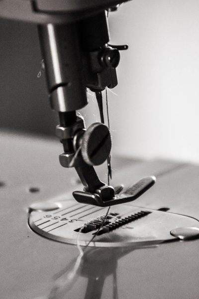 Close Up Close-up Day Indoors  Manual Focus Manufacturing Equipment No People Old Colors Sewing Machine Technology