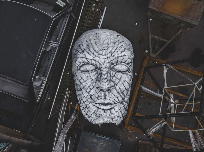 Face Aerial View Aerial Drone  Dji Creativity Art And Craft Sculpture Architecture High Angle View Day Statue Face