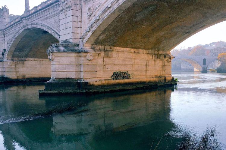 Close-up of bridge over river