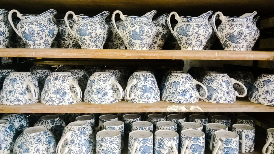 Ceramics China Chinaware Day Indoors  Middleport Middleport Pottery Pottery Pottery Factory Stoke-on-Trent The Potteries Staffordshire