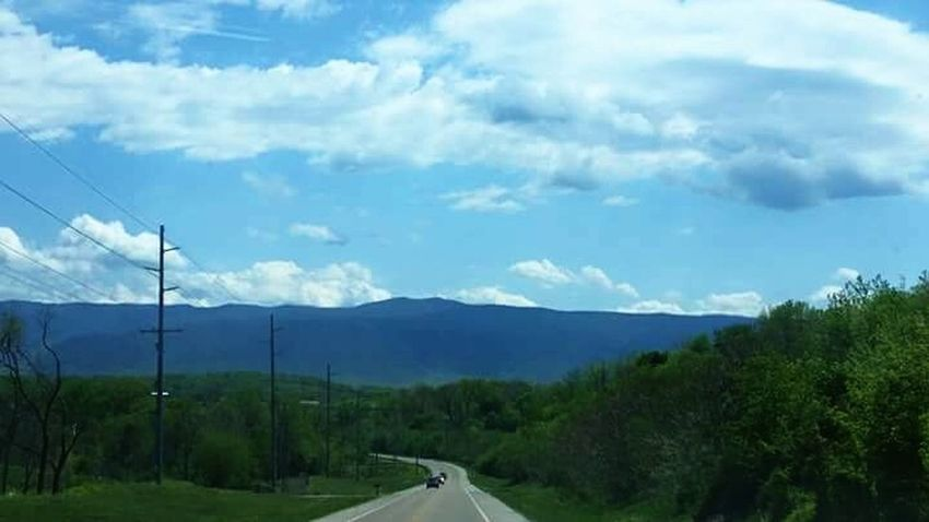Mountains On The Road Outdoors