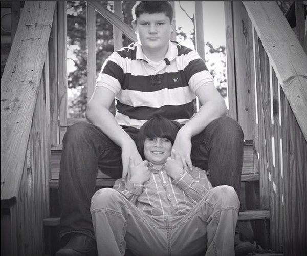 My 2 boys... (Pic edit 1, B&W)