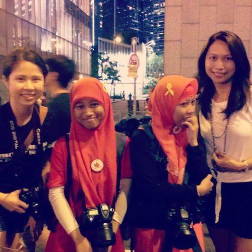 Eehh ternyata kita dpt fans @sinnachallenge HongKongers Yellow_ribbon Pro_democracy