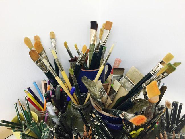 Art Brush Pencil Equipment Artist Skills  Culture Colors