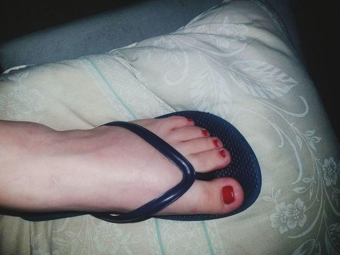 RedWhite&Blue Rednailpolish Paintedtoenails Pedicures