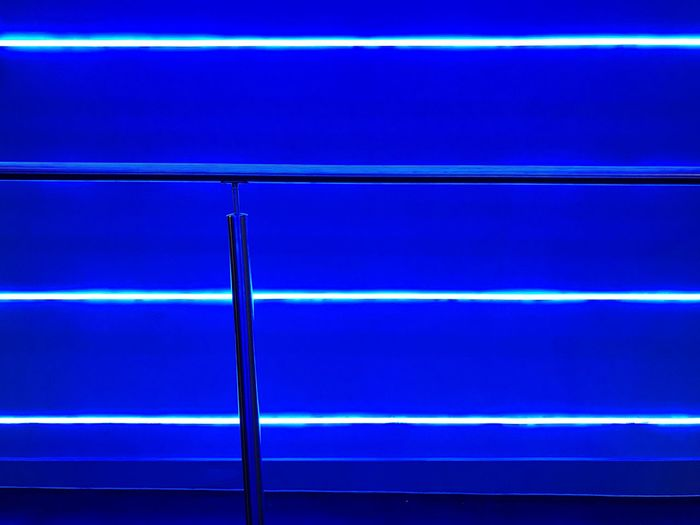 Neon Blue No People Backgrounds Full Frame Pattern Indoors  Close-up Illuminated Wall - Building Feature Abstract The Creative - 2018 EyeEm Awards