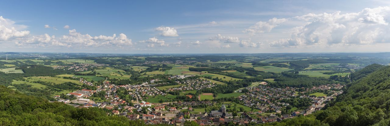 Aerial view from Schaumberg Aerial View Beauty In Nature Horizon Landscape Nature No People Outdoors Scenics - Nature