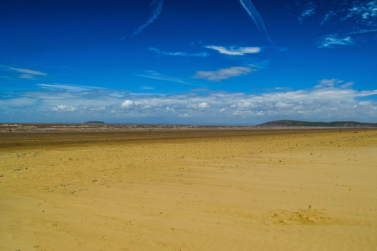 Sky Cloud - Sky Land Scenics - Nature Tranquil Scene Tranquility Beauty In Nature Non-urban Scene Sand Blue Landscape Nature Day No People Environment Horizon Outdoors Arid Climate Beach Photography Blue Sky Horizon Over Water Brean Down Idyllic Remote Space For Text Space For Copy