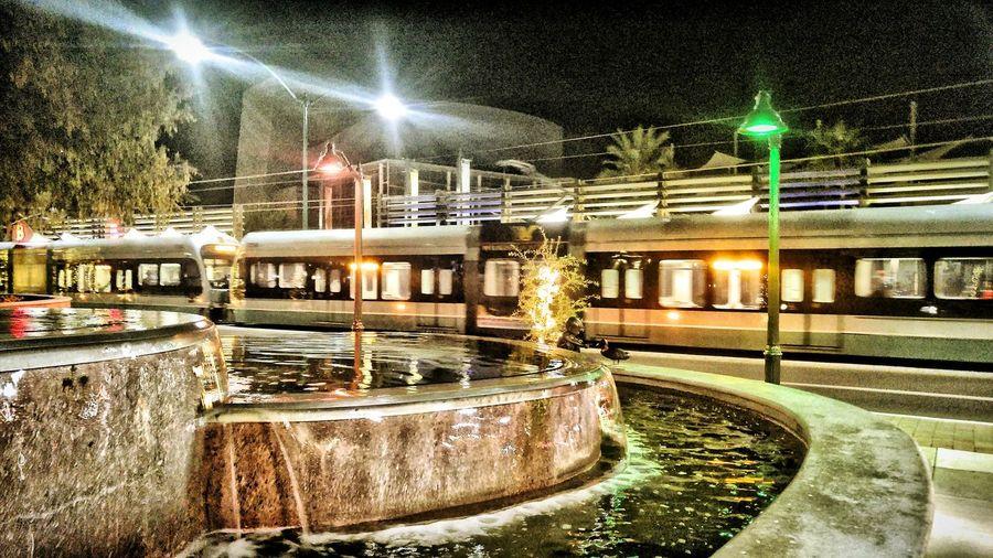 MesaAz DOwntownMEsaAZ Center&MainMesaAZ Lightrail Trainstation LightrailStation Fountain No People Showcase: December