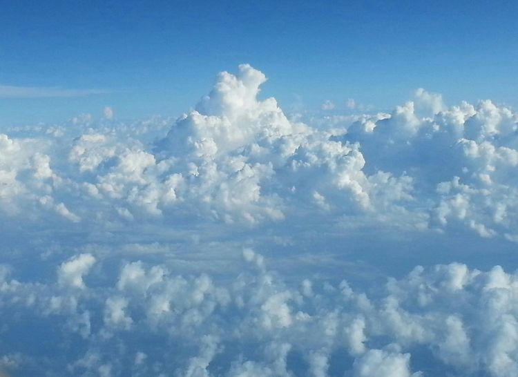 Somewhere Over The US In Flight Clouds Aerial Shot Blueandwhite Sky And Clouds Skyporn Fluffy Clouds Calming Cloudporn