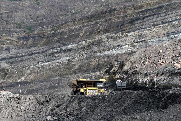 Dump Truck At Coal Mine