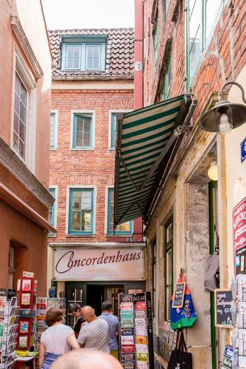 Architecture Bremen Building Building Exterior Day Germany Medieval Narrow Outdoors Schnoor Schnoor In Bremen Store