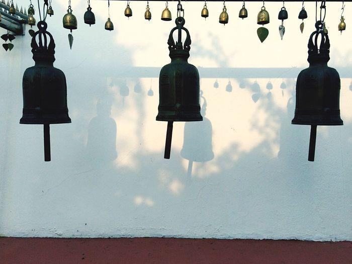 Bells hanging in temple