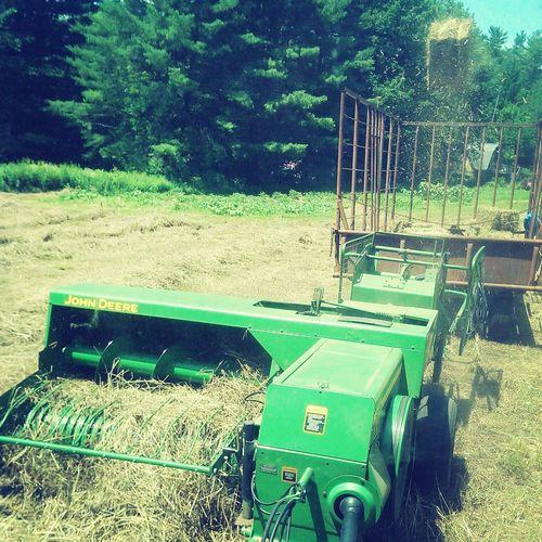 Enjoying Life Work Farming Bail Tossing