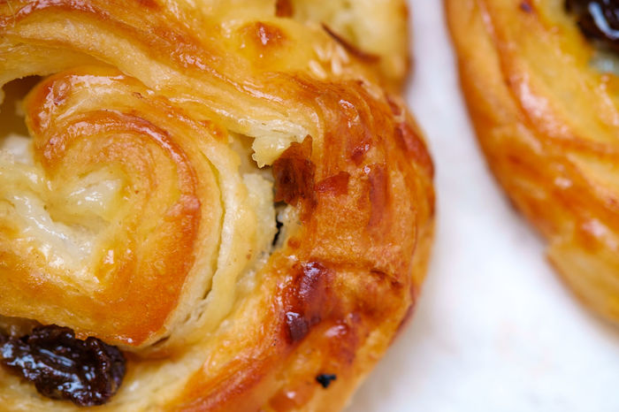 Baked Baked Pastry Item Bakery Close-up Danish Pastry Day Dessert Food Food And Drink Freshness Indoors  No People Plate Raisin Ready-to-eat Sweet Food Swirl