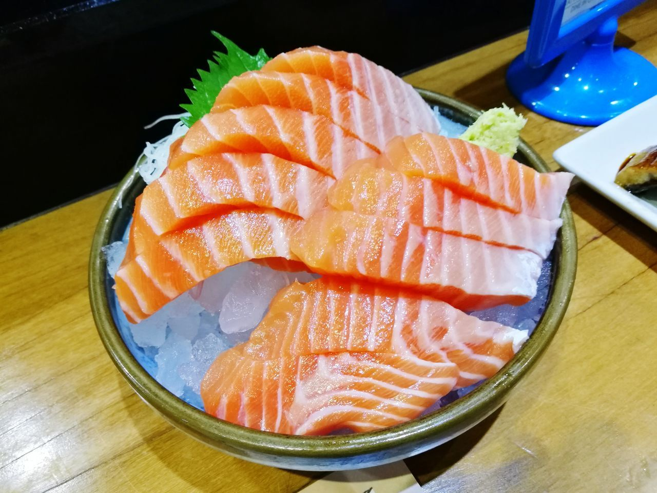 food and drink, food, freshness, table, healthy eating, wellbeing, japanese food, indoors, high angle view, still life, close-up, seafood, asian food, salmon - seafood, fish, plate, no people, orange color, ready-to-eat, raw food, sashimi, tray, temptation