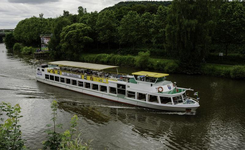 Boat German River Saar Saarbrucken Saarbruecken Saarland Stadt Tourism Tourist Attraction