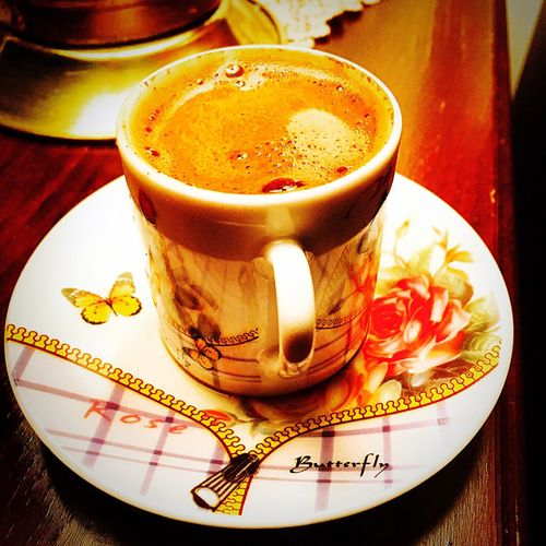 Drink Food And Drink Refreshment Freshness Table Drinking Glass Close-up No People Indoors  Frothy Drink Day Coffee Turkishcoffee Türk Kahvesi Relaxing Keyif Kahve Keyfi Hello World Taking Photos Hi! Check This Out