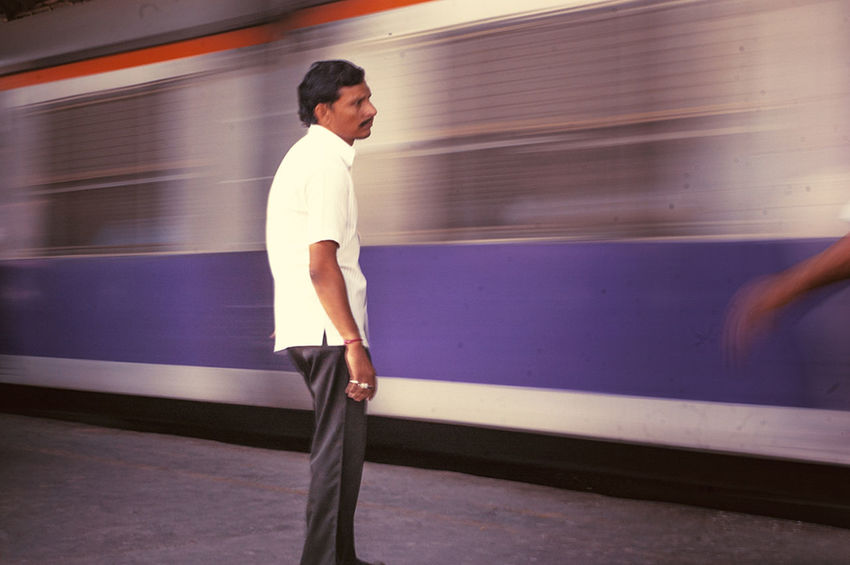 Waiting For The Train Byculla Mumbai Railwaystation