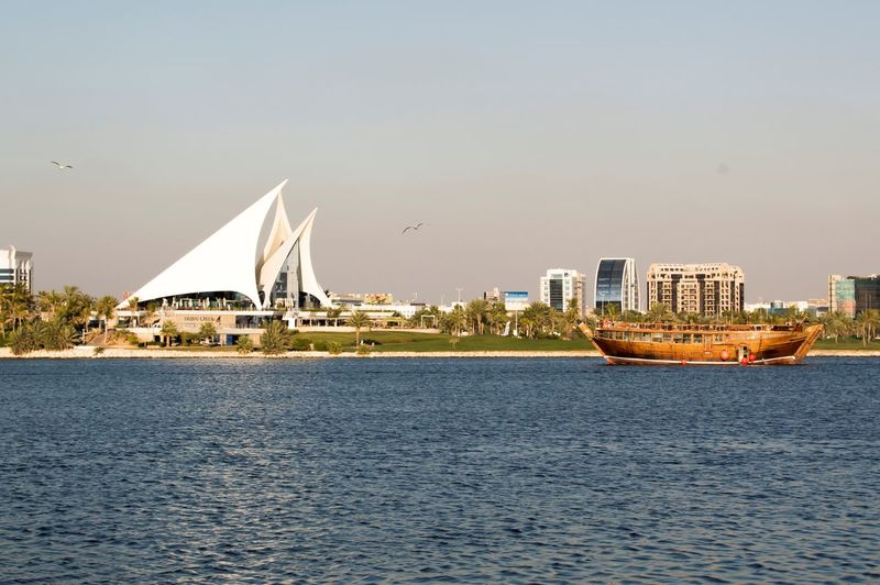 Dubai Creek Park Calm Dubai Dubai❤ Morning Nature City Cityscape Clear Sky Crekpark Day Enjoying Life Landscape Modern Nature Outdoors Phootshoot Photo Photography River Sailboat Sea Shadow Skyscraper Travel Destinations Water