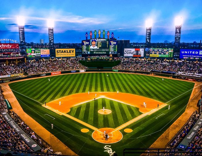 Chicago White Sox Us Cellular Field White Sox Baseball Baseball Game Baseball Stadium Baseball ⚾ Baseball Field Baseball Is Life Baseball Season BaseballDaysAreHere Chicago Taking Photos Enjoying Life Sport Sports Sport In The City Sports Photography Eyeemphotography