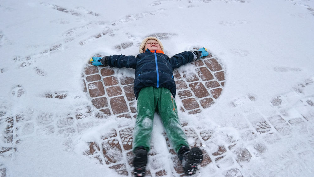 Winter is fun Be. Ready. Children Winter Wintertime Child Child Photography Child Playing Childhood Childhood Memories Children Only Children Photography Children Playing Cold Temperature Full Length High Angle View Leisure Activity On The Snow One Person Outdoors Snow Snowing Warm Clothing Winter Winter Pleasure Winter_collection