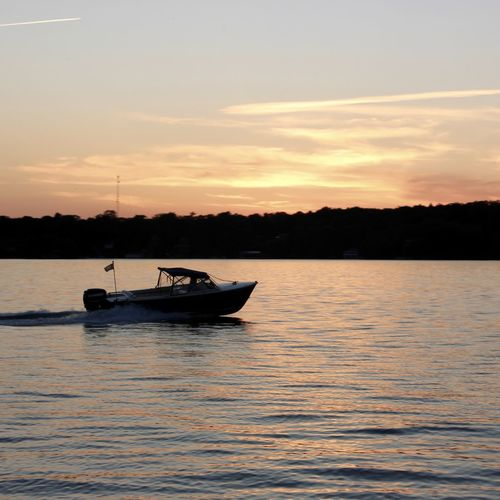 Water taxi. Water Taxi Sunset River Fish Fishing Boat Islandlife