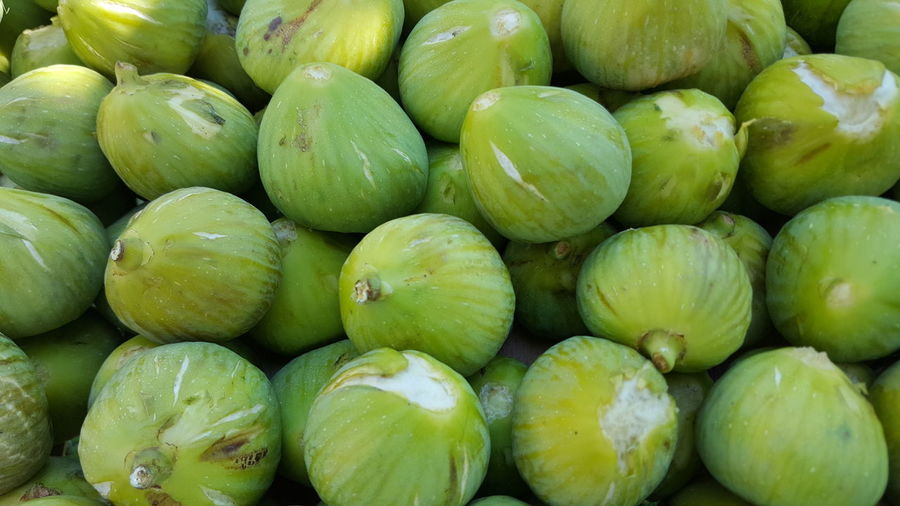 Full frame shot of figs for sale in market