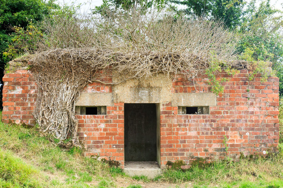 Military Pillbox Architecture Hair PILLBOX World War 2 Bricks Buildings Countryside Face Military War