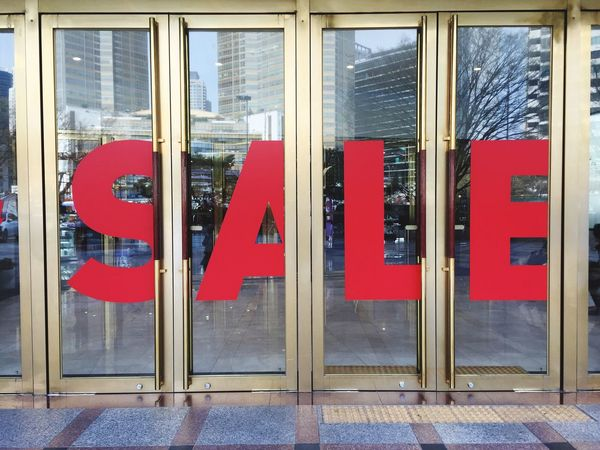 Red Window Sale Shopping Mall Shopaholic No People Building Exterior Built Structure Architecture Indoors  Day