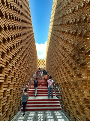 Polonian Stairs Expo 2015 Milano Applebox Modern Architecture