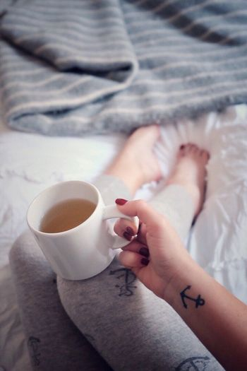 Sunday morning Drink Relaxation Bed Nail Polish Self Portrait Anchor ⚓