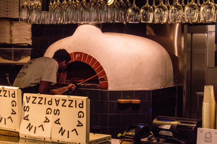 Pizza Pizza Oven Stockholm Sweden Indoors  Built Structure Lifestyles Cooking Baking Storefront