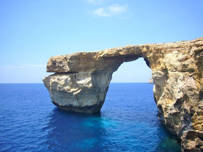 Blue Eye Eroded Eyeemnature Eyeemtravel  Nature The Greatest Artist Gozo Malta Malta Gozo Maltaphotography Mediterranean  Mediterranean Sea Natural Stone Nature Landscapes With WhiteWall Remarkable Rock Formation Rocky The Azure Window Window Beauty In Nature Learn & Shoot: Layering A Moment Of Zen... Blue Wave What A Wonderful World Shades Of Blue