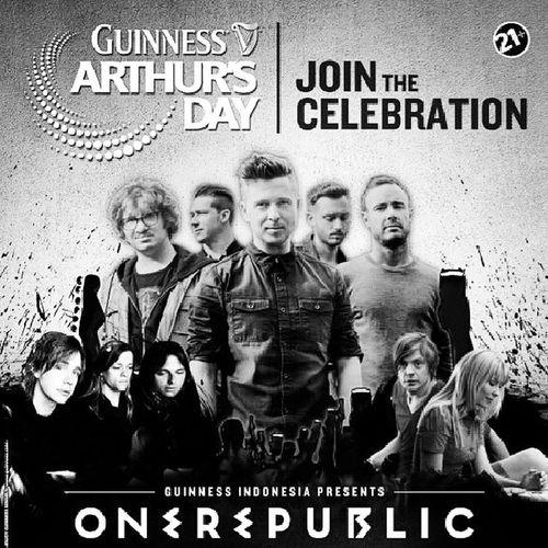 Let me join. I wanna see them live. Onerepublic Concert Guinnessarthursday Irish beer