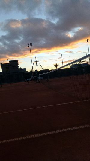 Tennis 🎾 Sport Favorite Rafael Nadal  RollandGarros Madagascar  Antananarivo 2k18 2018 EyeEm #beautiful Terrain Ball Tennis Ball Raquette Sunset Technology Silhouette Sky Cloud - Sky Table Tennis Tennis Yard Line - Sport