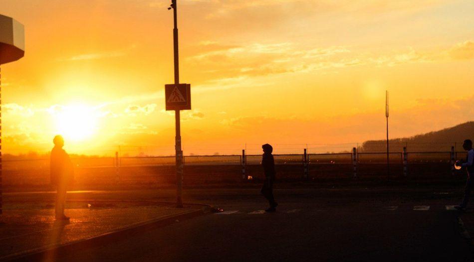 Streetphotography Colors Sunset Silhouette Sun