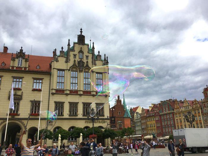 Rynek Wroclaw Wroclaw, Poland Soap Bubbles