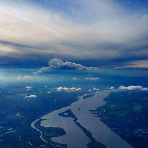 Above river Elbe with stormy clouds Hamburg Travel ✈ Flugzeug Flight Nature Instatravel Picoftheday Naturegram Landscape Birdsview River Clouds Instamood