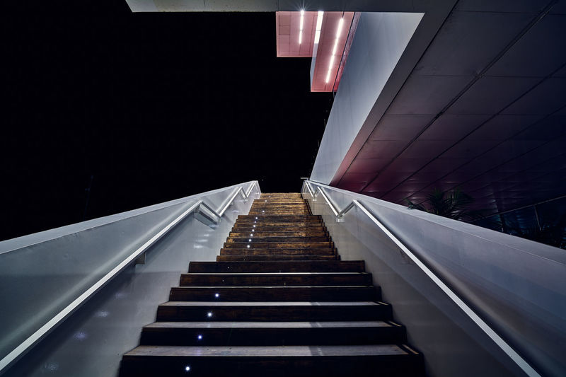 Stairway to the deepest darkness and desert. into the dark