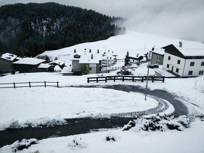 First snow in my village Mountain Little Village Sauris