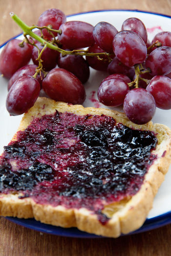 grape jelly sandwich Sandwich Close-up Day Dessert Food Food And Drink Freshness Fruit Grape Grape Jelly Healthy Eating Indoors  Indulgence No People Ready-to-eat Still Life Sweet Food Tart - Dessert Temptation