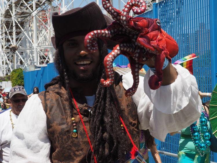 Celebration Coney Island Coney Island / Brooklyn NY Coneyisland Day Enjoyment Fun Leisure Activity Mermaid Parade 2016 Mermaidparade Octupus Outdoors Pirata Pirate Portrait