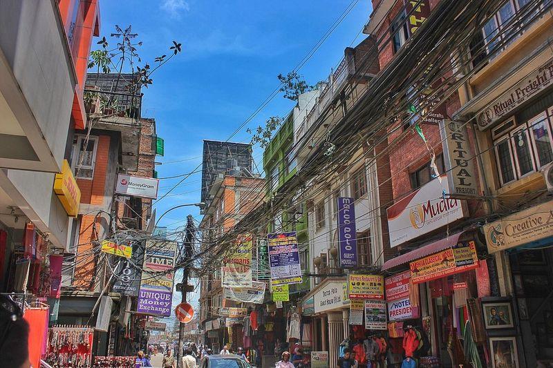 Nepal City Hello World Taking Photos