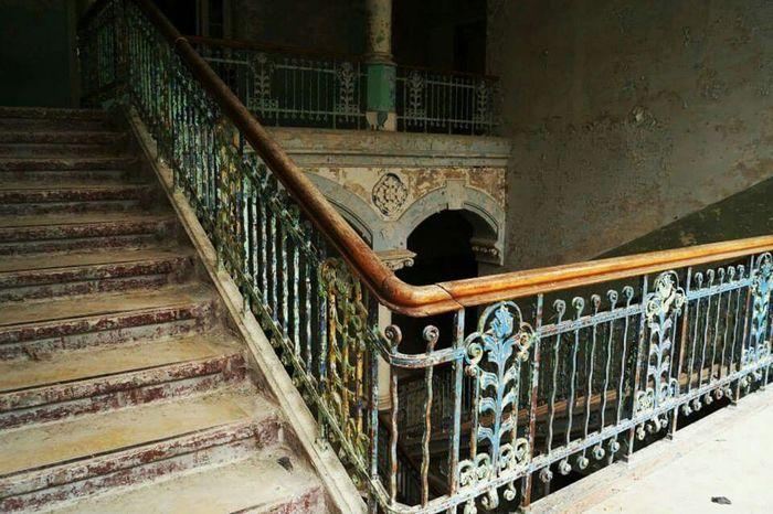 stairways Stairs Beelitz Heilstätten