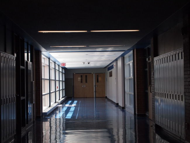 Empty Places EyeEmNewHere Hallway High School Corridor Day Daylight Empty Indoors