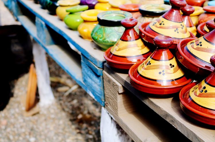 Tourism Vase Morocco Travel Pottery Pieces Morocco Travel Photography Multi Colored Vase Decoration Pottery Tajine Tajine Moroccan Food