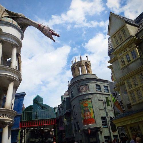 Diagon Alley Harry Potter Gringottsbank Gringotts Dragon Universal Studios Orlando